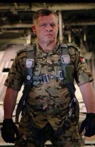 Jordan's King Abdullah is heading for the front lines. Hard. Core.