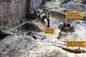 Untouched for almost seven decades, the tunnel used in the Great Escape has finally been unearthed.