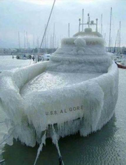 Ha Ha.. just saying.. the Al Gore needs a little warming these days